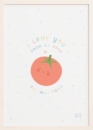 Tomatoe cute, le petit blu, nursery wall art