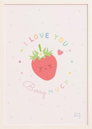 Strawberry, love, le petit blu nursery decor