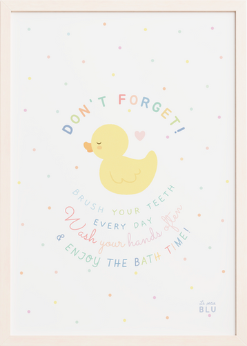 Bath duck, le petit blu