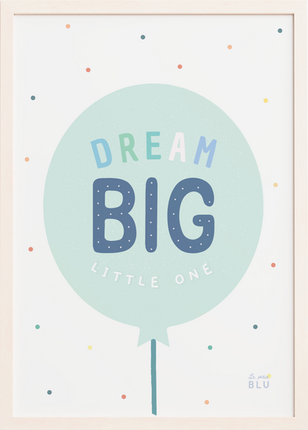 Balloon, dream big, le petit blu, nursery