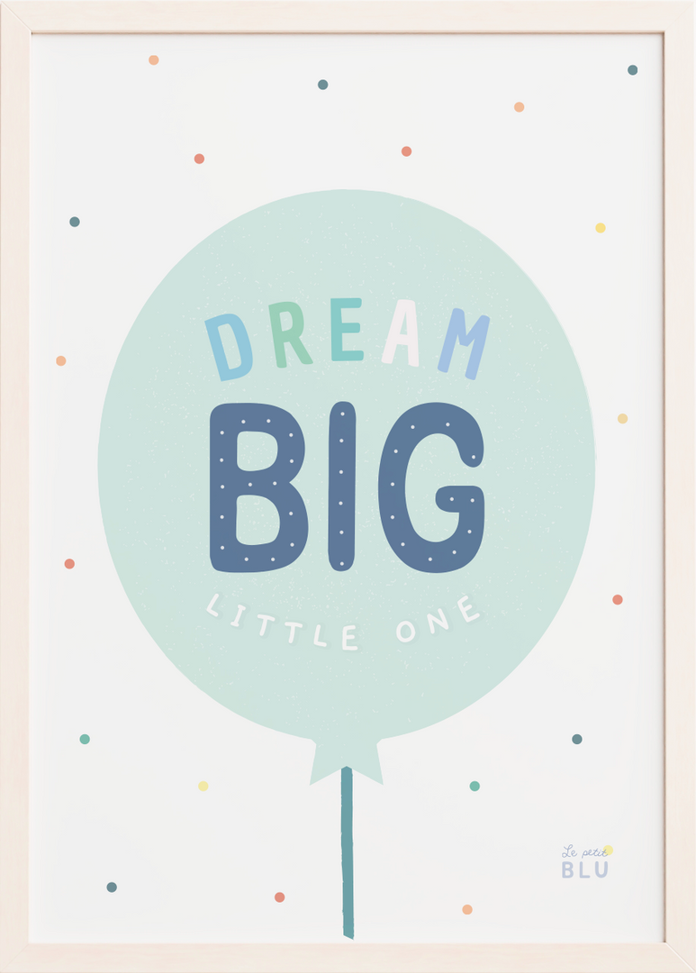 Baloon, dream big, le petit blu, nursery