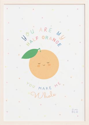 Cute orange, le petit blu nursery wall art