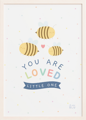 Bees nursery wall art