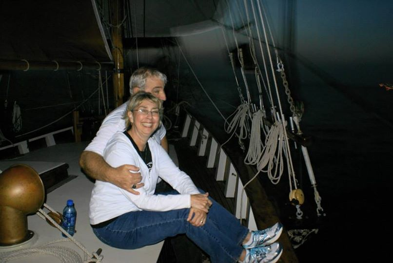 Romantic evening sail