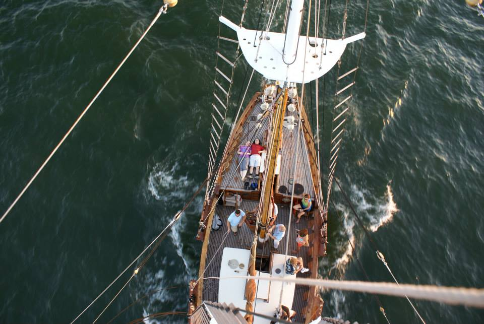 View from atop the mast