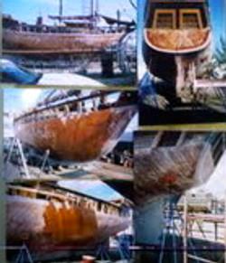 Rebuilding her hull