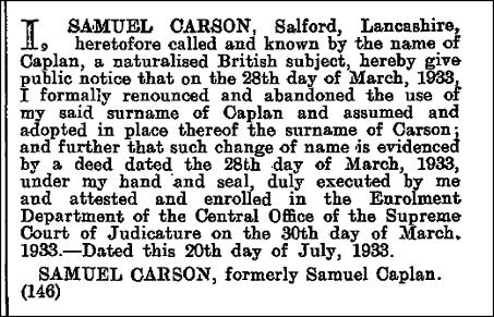 London Gazette 28 July 1933 | Rose Roots