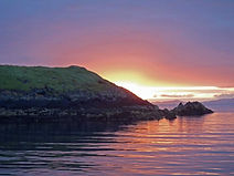 Sunset West of Skye. Duntulm Bay Anchorage