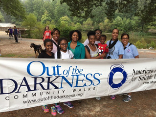 JRVA Members Participate in Out of the Darkness Community Walks