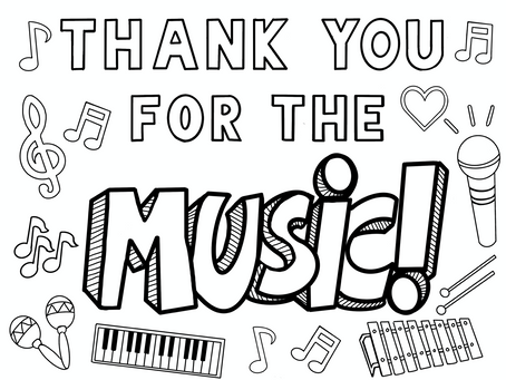 Thank You for the Music: Coloring Sheet
