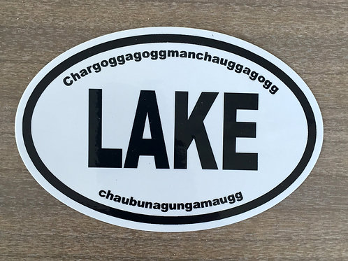 Lake Chargoggagogg Oval Sticker