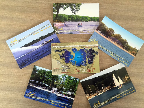Six-pack of Lake Chargogg Postcards