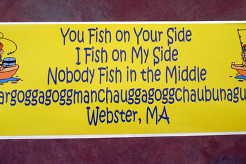 You Fish on Your Side Sticker