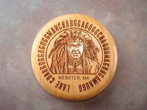 laser engraved wooden magnet