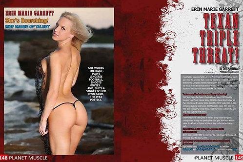Autographed Fitness Magazine Print