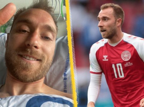"""""""Pray for Christian Eriksen"""". Why we know there's a God out there really."""