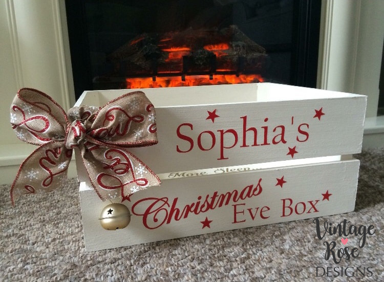Christmas Eve Crate.Christmas Eve Box Large Christmas Crate White