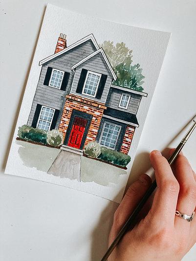 Watercolor House Portrait Workshop Recording