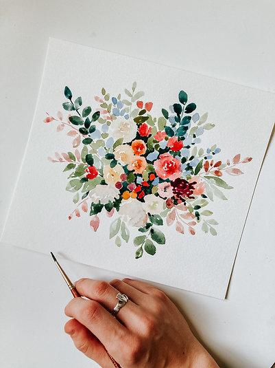 Loose Floral Watercolor Workshop Recording