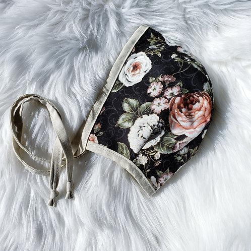 2-3Y Vintage Bonnet + Beige Linen Flip