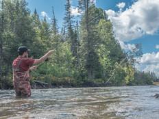 Photographie de pêche SEPAQ, photographié par l'Agence Ambassade, service de vidéaste à Rimouski