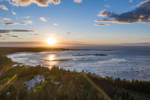 Photographie par drone Jardins de Métis, photographié par l'Agence Ambassade, service de vidéaste à Rimouski