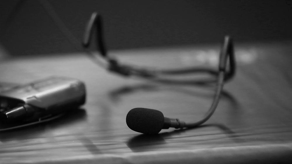 Evoson Active Pro Headset Microphone in studio