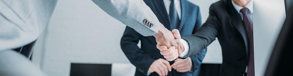 Case Studies banner - business hand shak