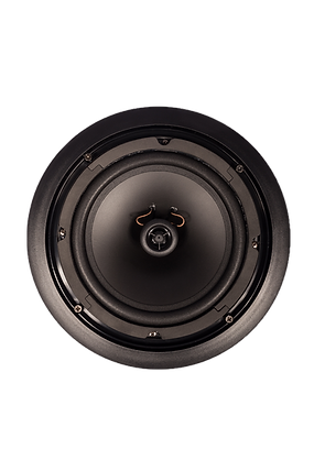 Front view of Evoson CORESOUND ceiling speaker without grille