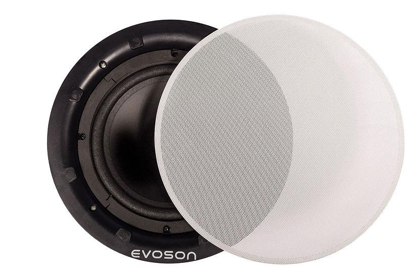 """CORESOUND™ 8"""" 50W 100V Bezel-less Ceiling Speaker - White"""