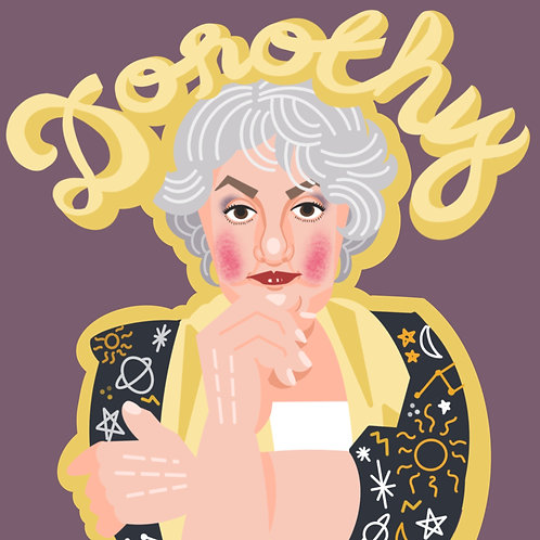 Golden Girls Mini Print