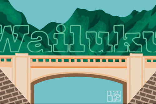 Wailuku Town Postcard