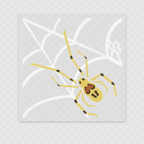 Clear Happy Face Spider Stickers