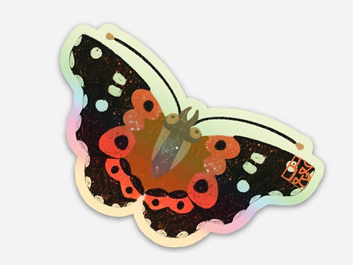 Pulelehua Kamehameha Butterfly Holographic  Stickers