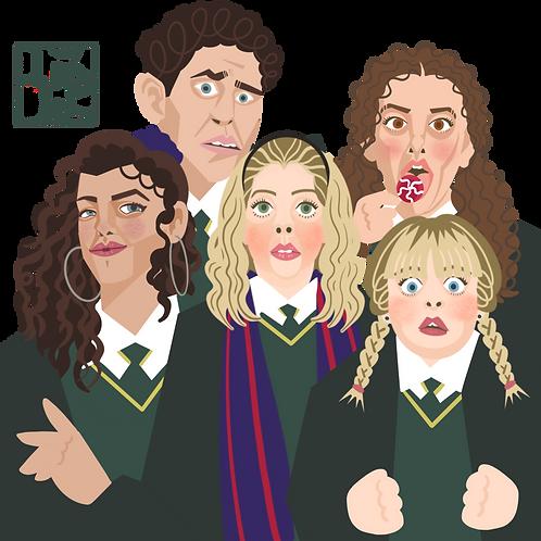 Derry Girls Mini Print
