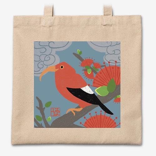 I'iwi & Ohi'a Lehua Tote Bag
