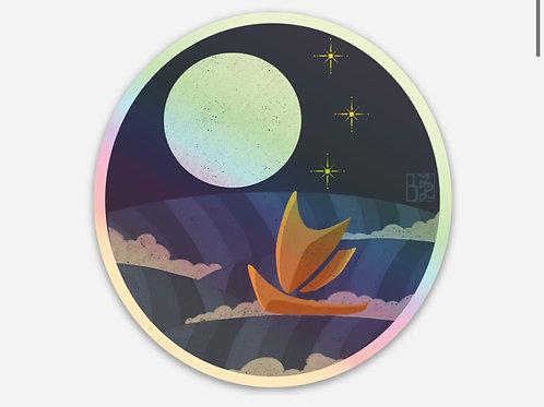 Hokulea Holographic Stickers