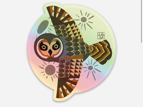 Pueo & Mahina Holographic Stickers