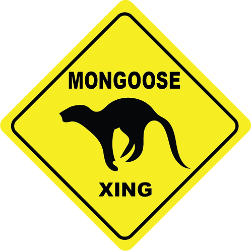 Mongoose Crossing Sticker