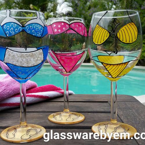 Glasswarebyem Hand Painted Glasses Australia Birthdays Etc
