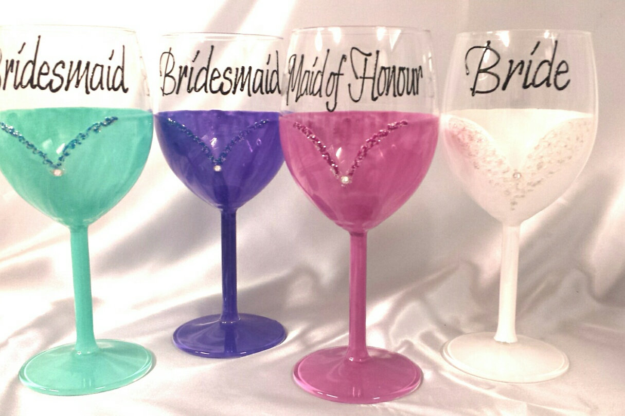 Glasswarebyem hand painted glasses australia whole dress suit dress and suit design glasses can be painted in any colourssee colour chart the wedding dress can be painted with or with out the glitter and lace ombrellifo Images