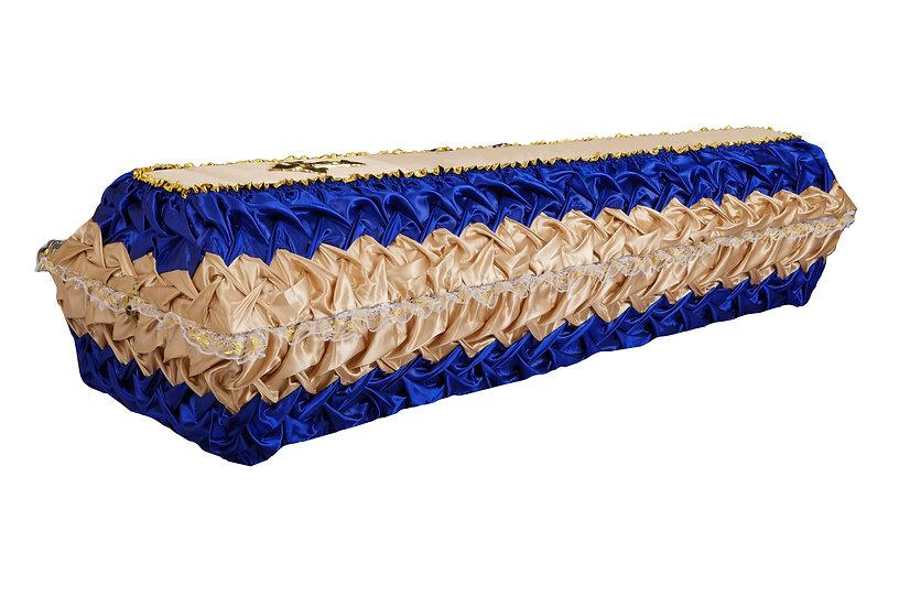 Тканевый гроб комбинированный (буфы)