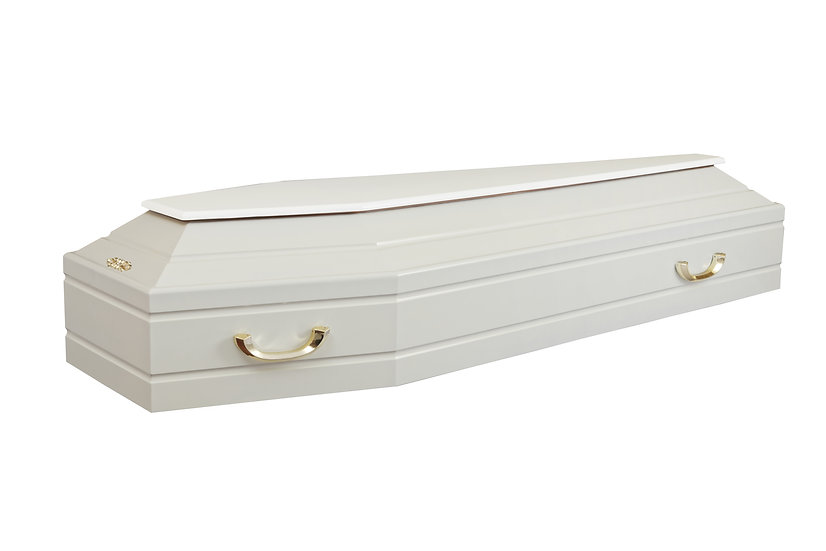 Лакированный гроб №3 белый