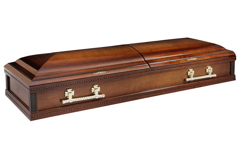 Лакированный гроб распашной