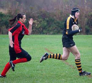Fiona playing for UYWRUFC