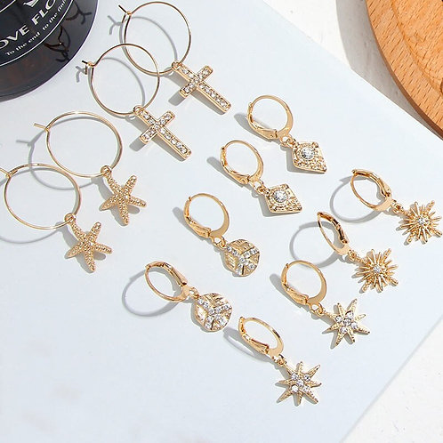 Flatfoosie Cross Hoop Earrings