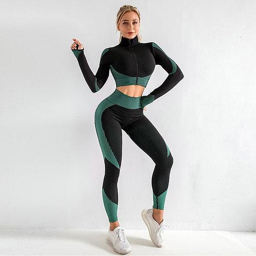 Seamless Long Sleeve & Legging Workout Set