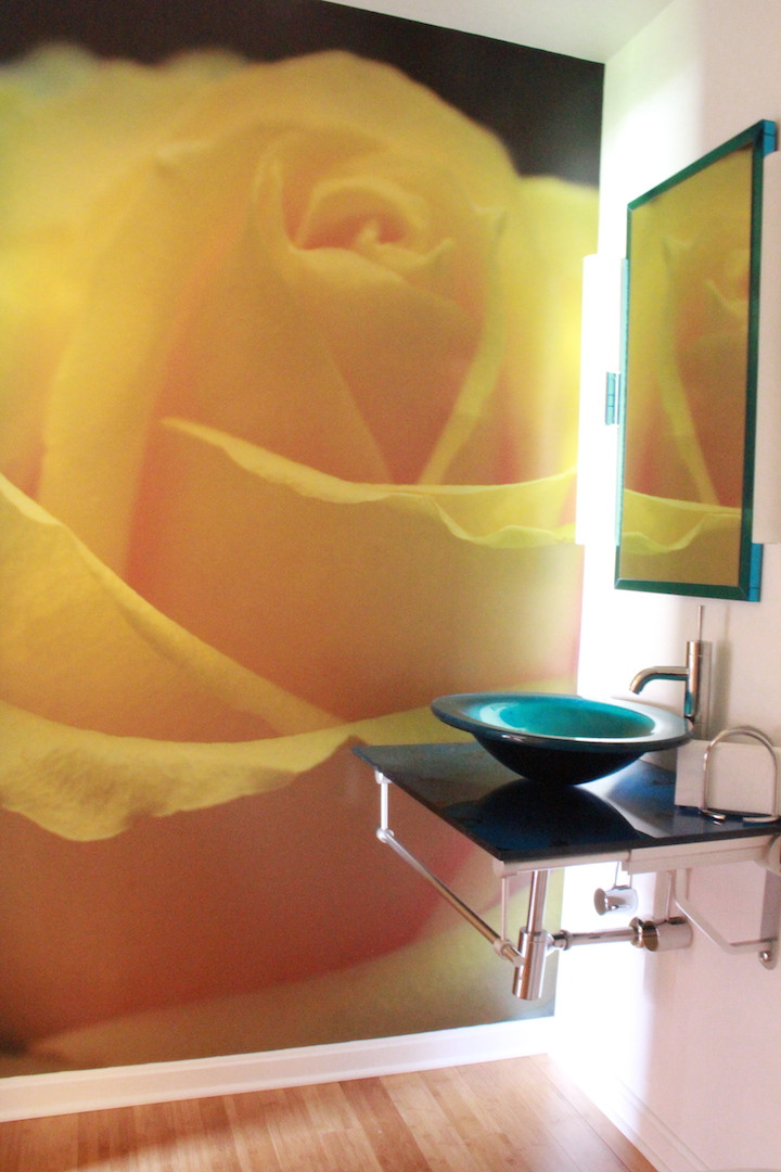 Yellow Rose Vinyl Wall Covering