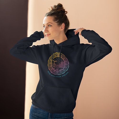 "Unisex College Hoodie ""Dive Into Your Dreams"""