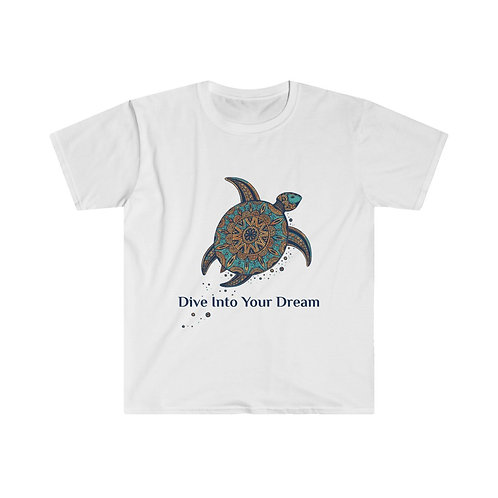 "Men's Fitted Short Sleeve Tee ""Dive Into Your Dream"""